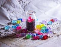 lovestory glitter heart tiny tin royalty free stock images