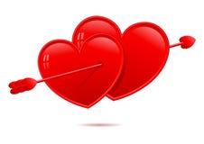 Lovestruck hearts Stock Photo