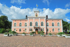 Loviisa, Finland. Town Hall Stock Photos