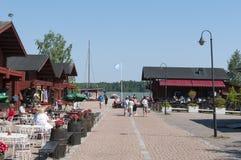 Loviisa guest harbor Stock Image