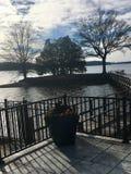 Lovin sjö Livin royaltyfria foton