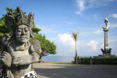 Lovina bali main seafront square statues indonesia Stock Photography