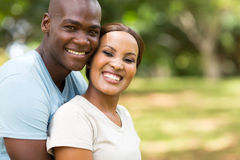 Loving african couple Stock Image