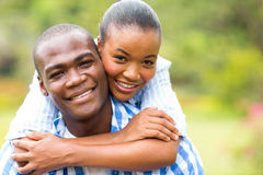 Loving african couple Stock Photo