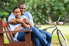 Loving afro couple Stock Photography