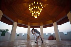 Loving asian couple indoor Stock Image