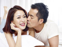Loving asian couple Stock Images
