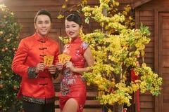 Celebrating Vietnamese New Year royalty free stock photos