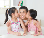 Loving Asian family Royalty Free Stock Images