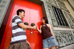 Loving asian young couple Stock Photos