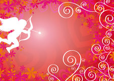Loving Background With Cupid Royalty Free Stock Photography