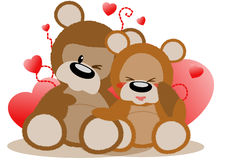 Loving bears Stock Photo