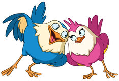 Loving birds Stock Images