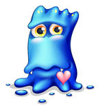 A loving blue monster Stock Photography