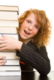 Loving books Stock Photography