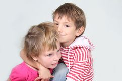 Loving brother and sister Royalty Free Stock Photo