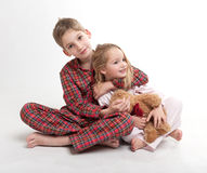 Loving brother and sister Royalty Free Stock Photos