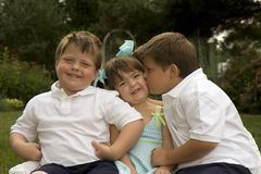 Loving Brothers and Sister Stock Photography