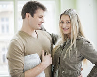 Loving business couple in office Stock Image