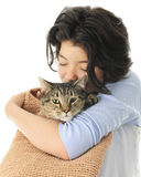 Loving the Cat in the Bag Stock Image