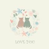 Loving cats Royalty Free Stock Photography