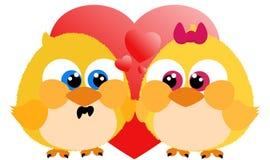Loving chicks Stock Photography