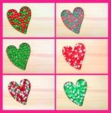 Loving Christmas candies Stock Image