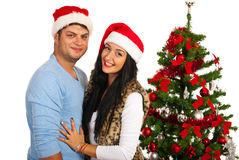 Loving Christmas couple Stock Photography