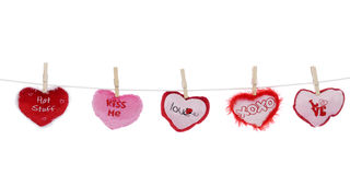 Loving Clothesline Royalty Free Stock Images