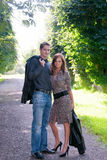 Loving couple. In summer nature royalty free stock image