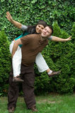 Loving couple. Happy coule  have fun outdoor Stock Image
