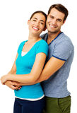 Loving Couple Against White Background Royalty Free Stock Photo