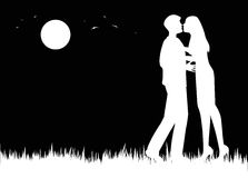 Loving couple in balck and white Stock Image