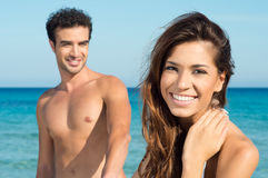 Loving couple at beach Royalty Free Stock Photography