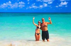 Loving couple on beach Royalty Free Stock Photo