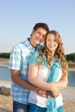 Loving couple at the beach. In summer Stock Photos