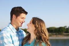 Loving couple at the beach Royalty Free Stock Photos