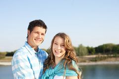 Loving couple at the beach Royalty Free Stock Photography