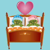 Loving couple of cactus dreaming about love Royalty Free Stock Photography