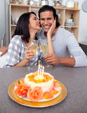 Loving couple celebrating Royalty Free Stock Images