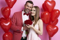 Loving couple celebrating their anniversary Royalty Free Stock Photo