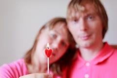 Loving couple celebration Stock Images