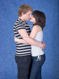 Loving couple chained by a chain Stock Photo