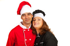 Loving couple of chefs Stock Photography