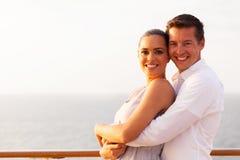Loving couple cruise. Portrait of loving couple embracing on cruise ship Stock Photography