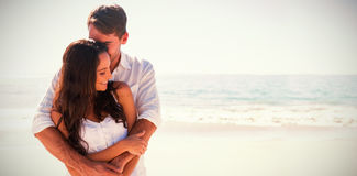 Loving couple cuddling Royalty Free Stock Image