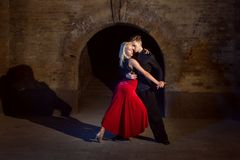 Dance of tango. Royalty Free Stock Photo
