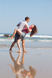 Loving couple dances Royalty Free Stock Images