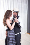 Loving couple is dancing together Royalty Free Stock Image