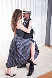 Loving couple is dancing together Stock Photography